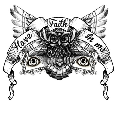 owl tattoo png have faith in me lyrics a day to remember owl design ink