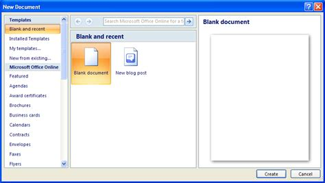 Creating A Document Tutorial Webucator - open ms word file java download free software aimdevelopers