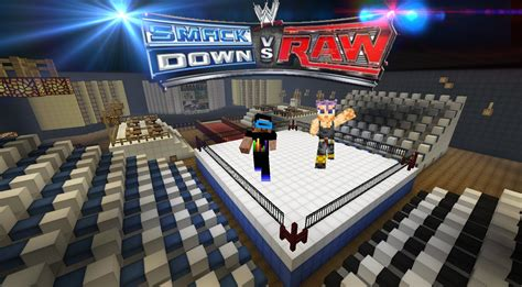 how to mod in wwe the game minecraft megabuild boxing ring wwe vs raw youtube