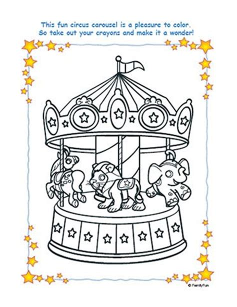 free carousel template carousel coloring pages circus