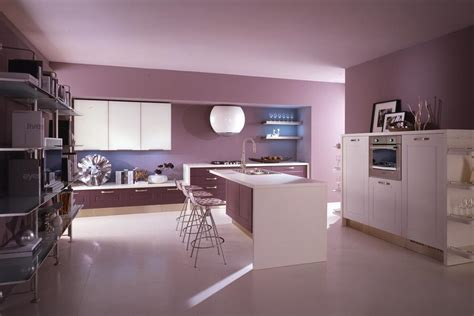 modern aquarium kitchen with a strong visual impact by purple kitchens