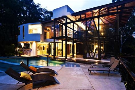 big modern house amazing modern house with large windows and glass walls