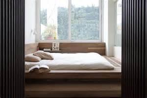 Minimalist penthouse bedroom window glass olpos design