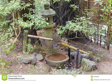 japanese garden water basin