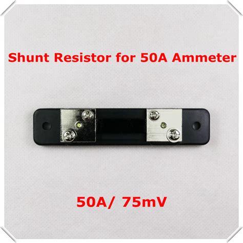 shunt resistor rating fl2 shunt resistor for dc 50a 75mv current meter digital ammeter led display jpg