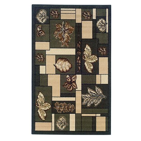 linon home decor rugs linon home decor capri collection green and brown 4 ft 3