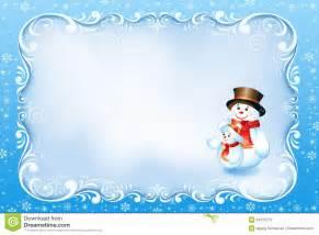 blaue weihnachtskarte mit strudel rahmen und schneemann