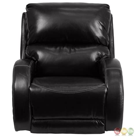 modern black leather recliner contemporary ty black leather rocker recliner