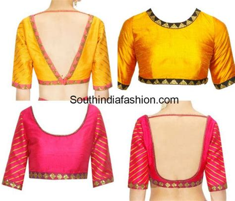 Simple Blouse simple blouse designs with borders saree blouses