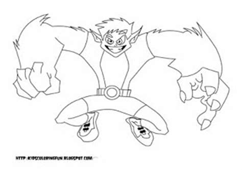 teen titans go beast boy coloring teen titans beast boy learn to coloring