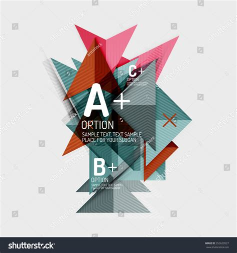 thesis abstract francais paper style abstract geometric shapes infographic stock