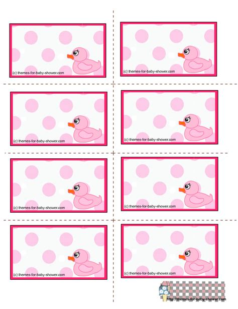 free printable girl baby shower labels