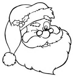 free coloring page clipart image santa claus winking