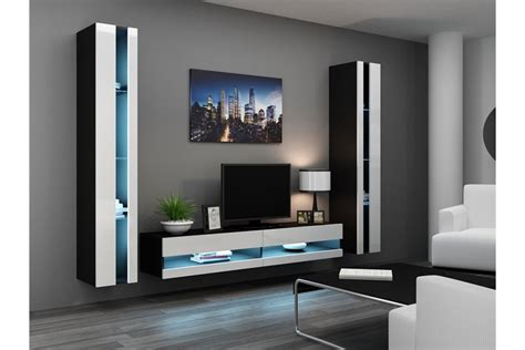 Meuble Tv Mural Noir