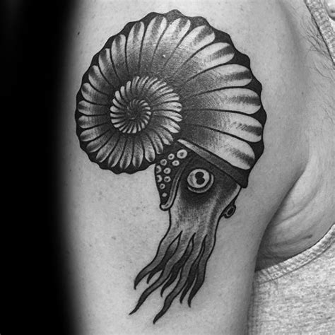 ammonite tattoo 40 ammonite designs for fossil ink ideas