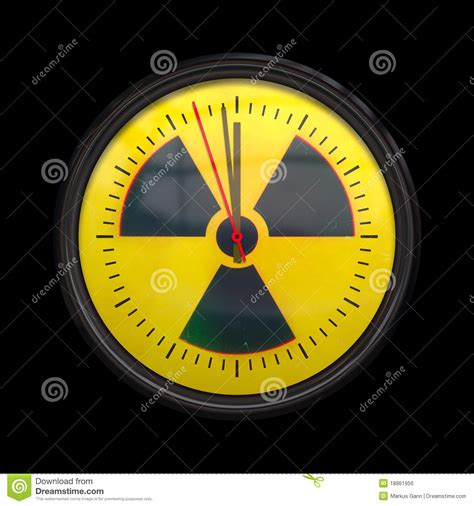 Three Seconds radioactive clock royalty free stock image image 18861956