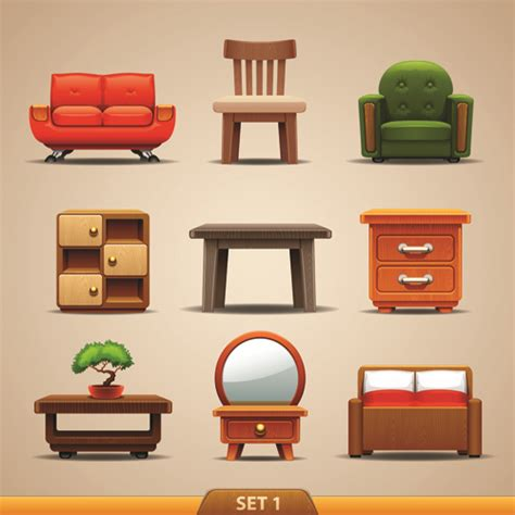 furniture images vector furniture icons set 01 vector icons free download