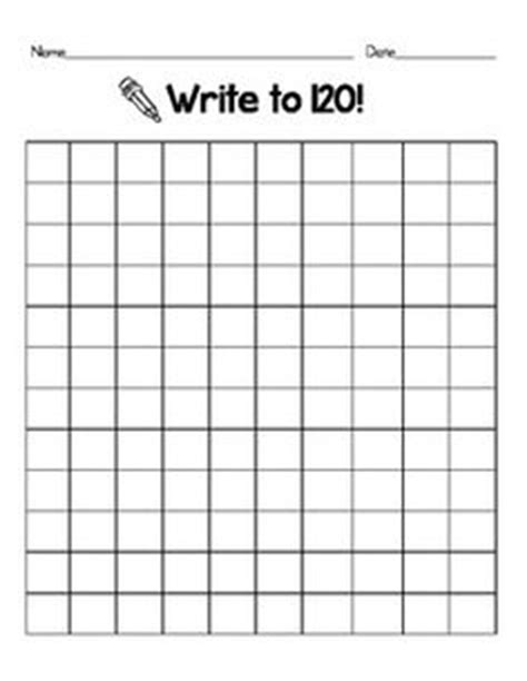 free printable hundreds chart to 120 1000 images about first grade stuff on pinterest 120