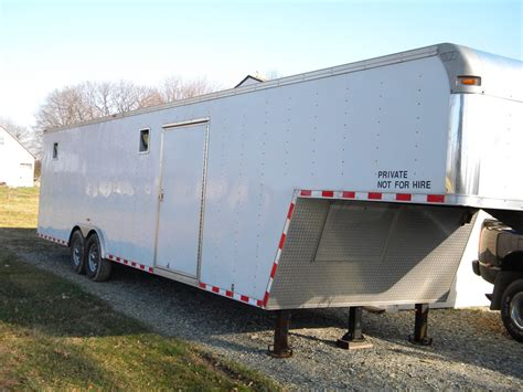 ft vintage outlaw enclosed trailer gooseneck lstech
