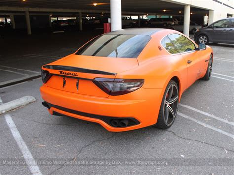 maserati orange maserati granturismo s orange and carbon wrap autoevolution