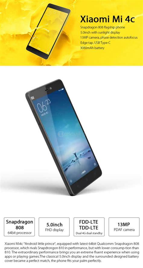 Xiaomi 1 S 2g Cdma xiaomi mi 4c 5 0inch android 5 1 3gb 32gb snapdragon 808