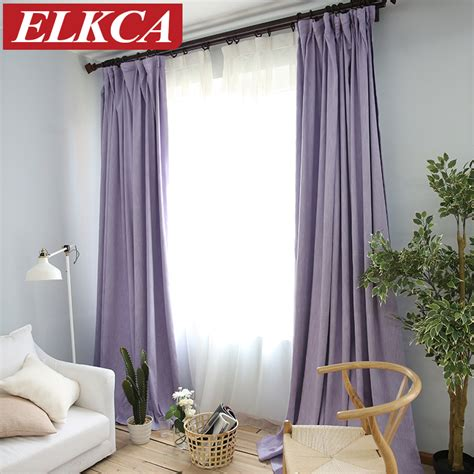 colorful bedroom curtains aliexpress com buy american solid color thick faux linen blackout curtains for