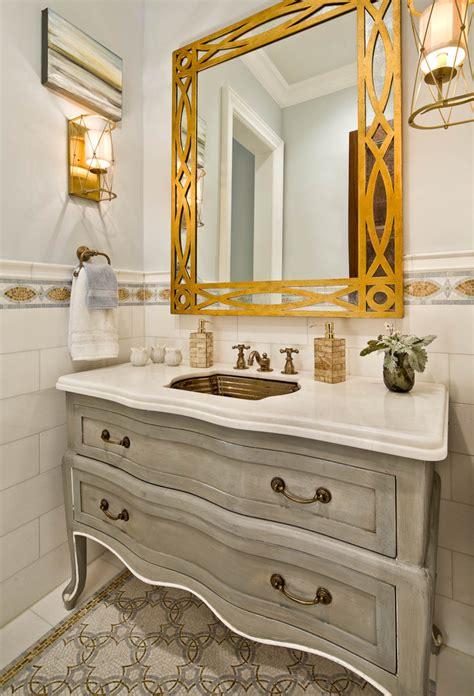 Modern Powder Room Vanities Dresser Gold Mirror Bathroom Vanities Without Tops