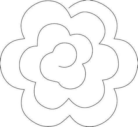 rolled flower style  felt flower template paper