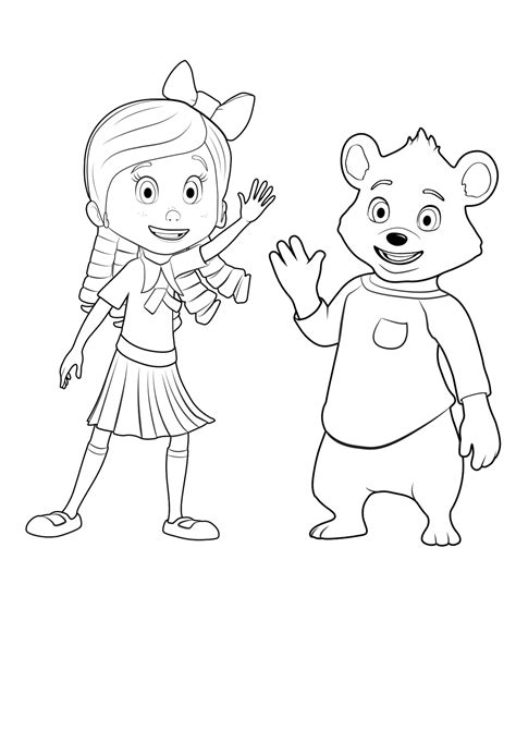 Goldie Bear Coloring Pages | goldie and bear coloring pages to download and print for free