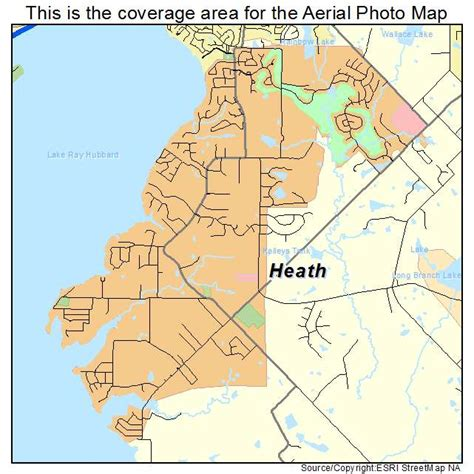 heath texas map aerial photography map of heath tx texas