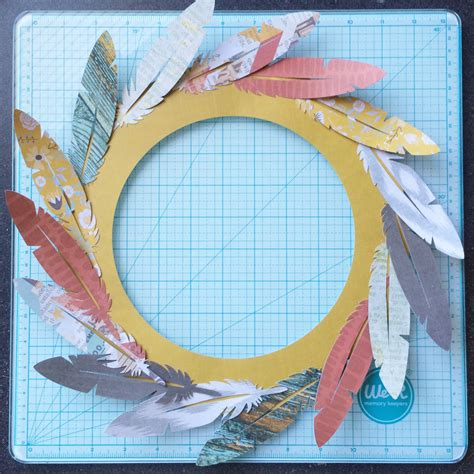 how to make layers feather how to make layers feather paper feather wreath we r