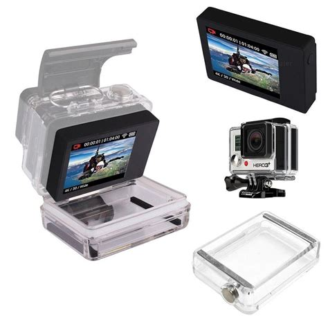 Gopro Lcd Touch Bacpac Waterproof lcd bacpac screen viewer waterproof rear monitor for gopro 4 3 3 ebay