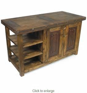 Old Kitchen Island rustic old wood kitchen island with iron accents