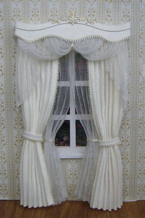 how to make dollhouse curtain rods 85 best images about miniature window treatments on