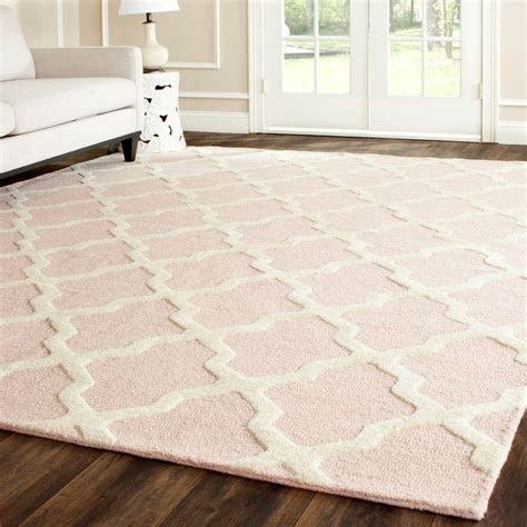 Pink Area Rugs 8x10 Safavieh Cambridge Light Pink Ivory 9 Ft X 12 Ft Area Rug Cam121m 9 The Home Depot