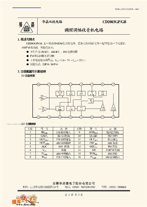 transistor ic datasheet cd2003gp 73601 pdf datasheet ic on line