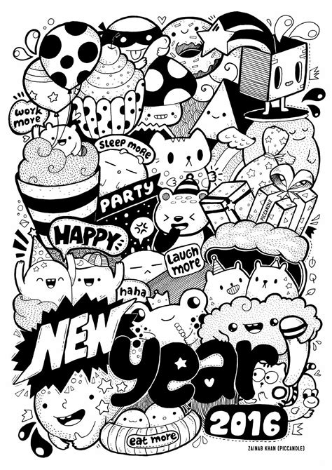 doodle new happy new year doodle 2016 by piccandle by cats issuu
