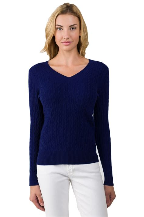 v neck cable knit sweater midnight blue cable knit v neck sweater jennie liu