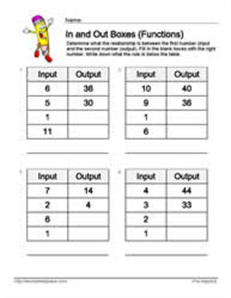 input output table solver input output multiplication worksheets