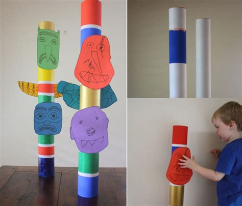 totem pole craft project totem pole craft kid crafts totems totem