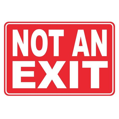 Exit Sign 12 in x 8 in plastic not an exit sign pse 0091 the