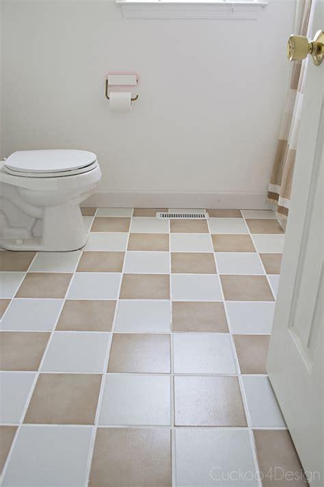 update bathroom tile updating my plain tan checkerboard floor cuckoo4design