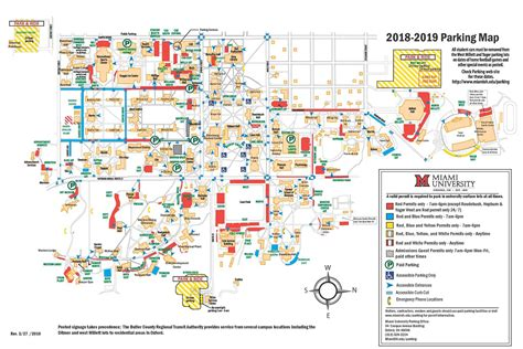map of miami oxford parking and transportation miami