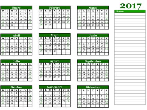 Calendario Para Descargar 2017 10 Plantillas De Calendario 2017 Para Imprimir Tuexperto