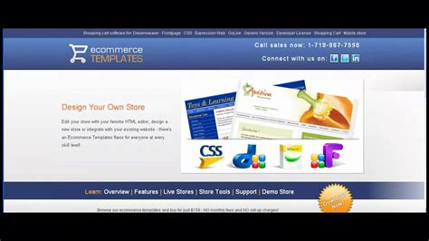 Overview Of Ecommerce Templates Shopping Cart Software Youtube Ecommerce Templates Shopping Cart Software
