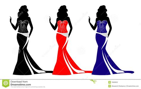 fashion silhouettes with purses stock photos image 7800653