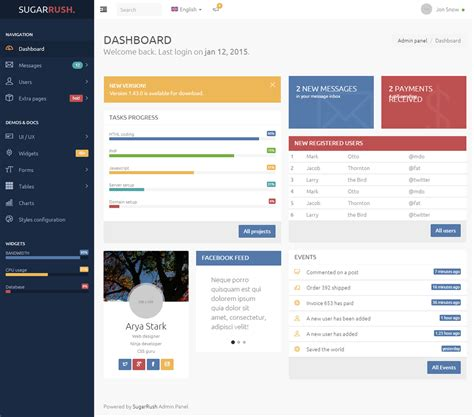 free bootstrap 3 html5 admin dashboard template to download sugarrush premium responsive bootstrap 3 html5 template