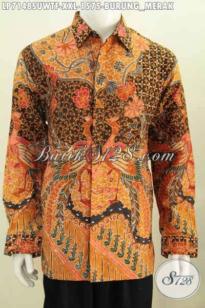 Hem Batik Pria Katun Premium Ukuran Jumbo Hrb 055 hem batik premium kemeja lengan panjang halus bahan