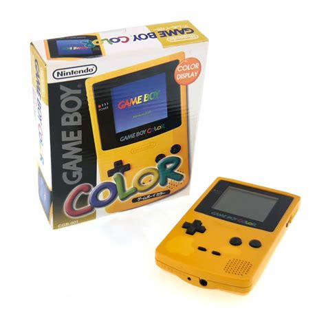 nintendo boy color yellow console japanese boxed