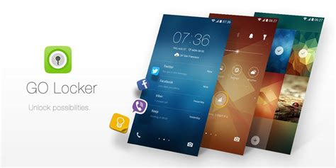 cool lock screen apps for android go locker most installed android apps on play